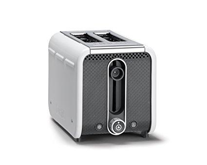 Dualit 26432 Studio 2-Slice Toaster, White/Grey